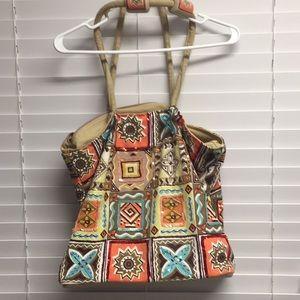 Tribal - Aztec - Earth Love Print Overnight Bag